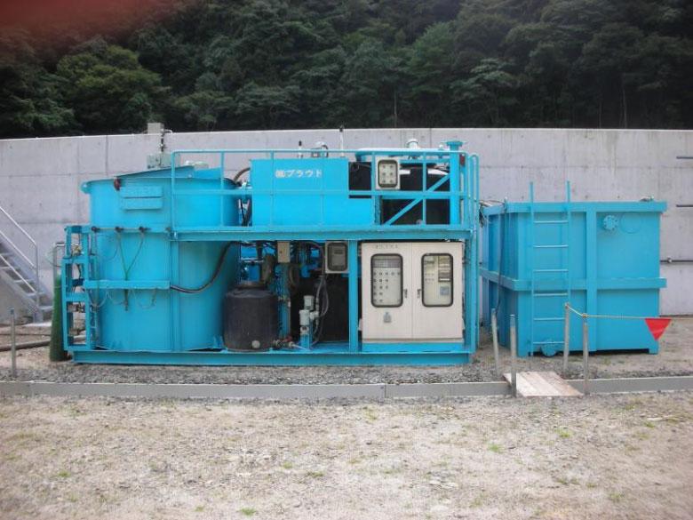 30㎥/hr処理の濁水処理設備