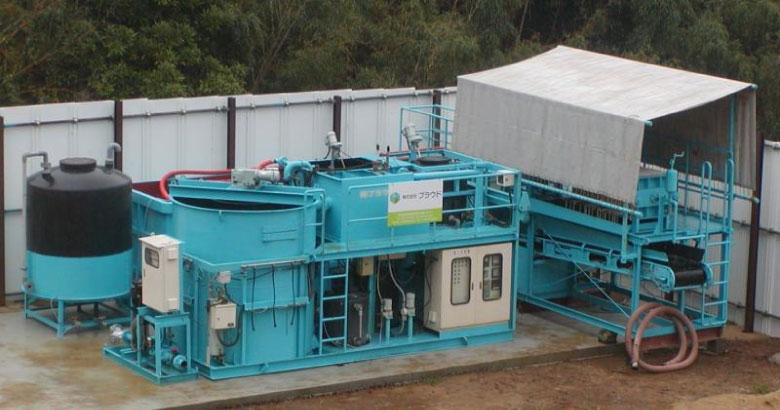 濁水処理設備 設置工事の風景